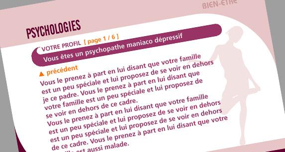 psychologies - psychotest